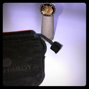 John Hardy large Smokey topaz ring. Size 6